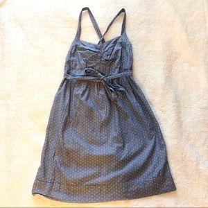 Motherhood Maternity Blue Chambray Summer Dress S